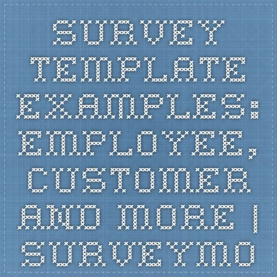 Survey Template Examples Employee, Customer and More - employee survey template