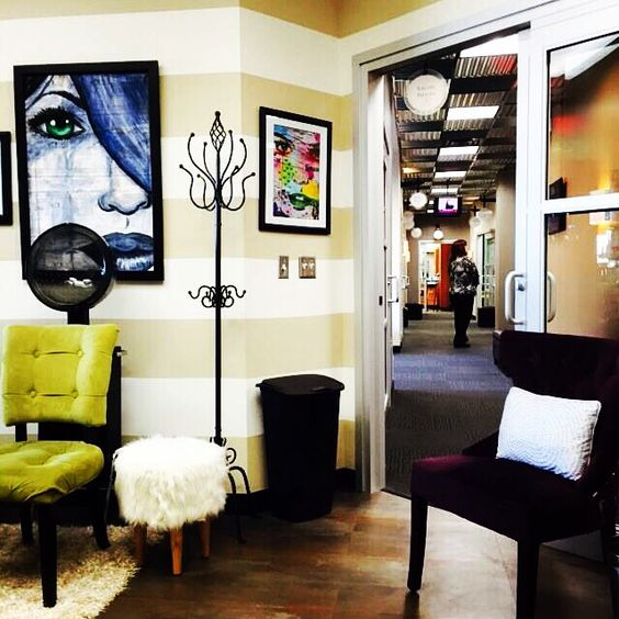 Accent pieces striped walls and coat racks on pinterest for Accent styling salon gainesville