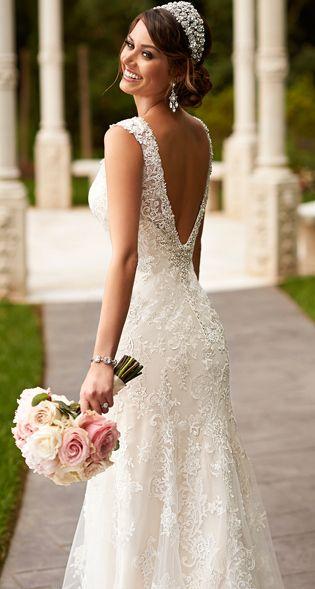 Column Style Wedding Dress