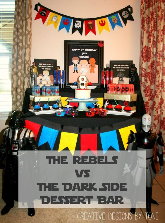 Creative Designs by Toni: The Rebels vs The Dark Side Dessert Bar