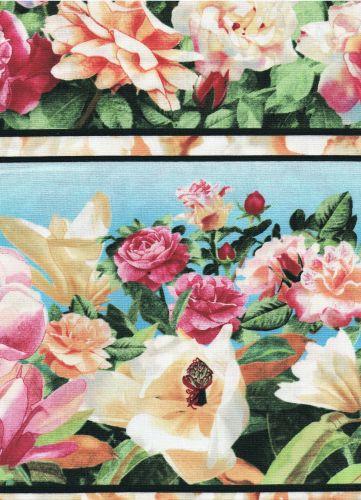 Magnolien und Rosen