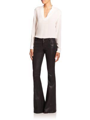 Polo Ralph Lauren - Leather Skinny Pants - Saks.com