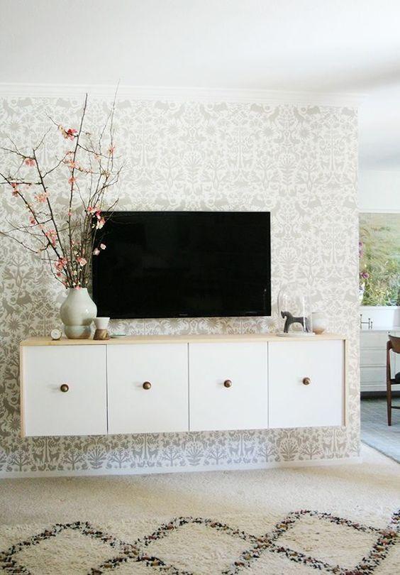 DIY Floating Credenza IKEA Hack | Little Green Notebook | Bloglovin'