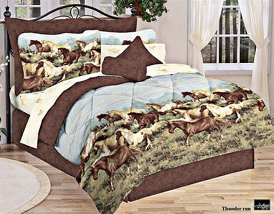 horse bedding | Horse Bed in A Bag | Horse Comforter, Bedding and ...
