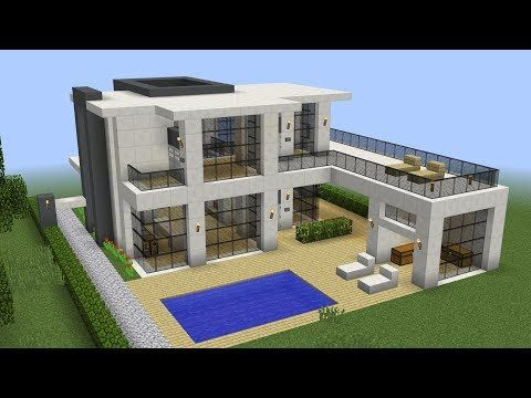 Minecraft How To Build A Modern House 13 Youtube Minecraft Modern Minecraft Mansion Modern Minecraft Houses