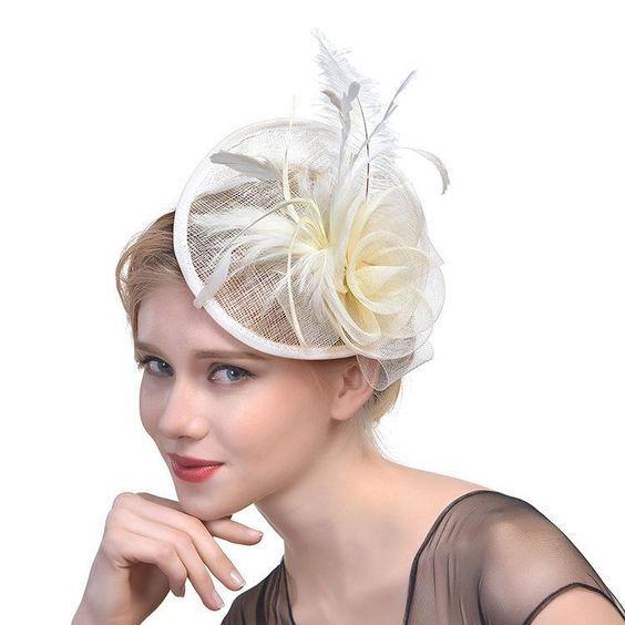 Ladies Women Wedding Race Coctail Sinamay Flower Headband Clip Hat Fascinator UK