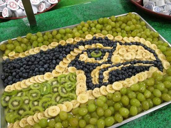 Oh good grief... Too much! Healthy game day- maybe add some fruit glaze or jello?
