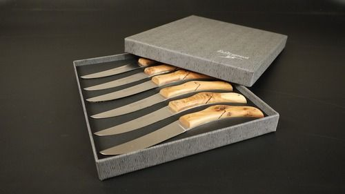Set 6 couteaux de table bois