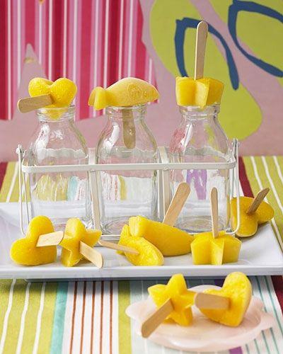 Eis selber machen: Mango-Eis am Stiel