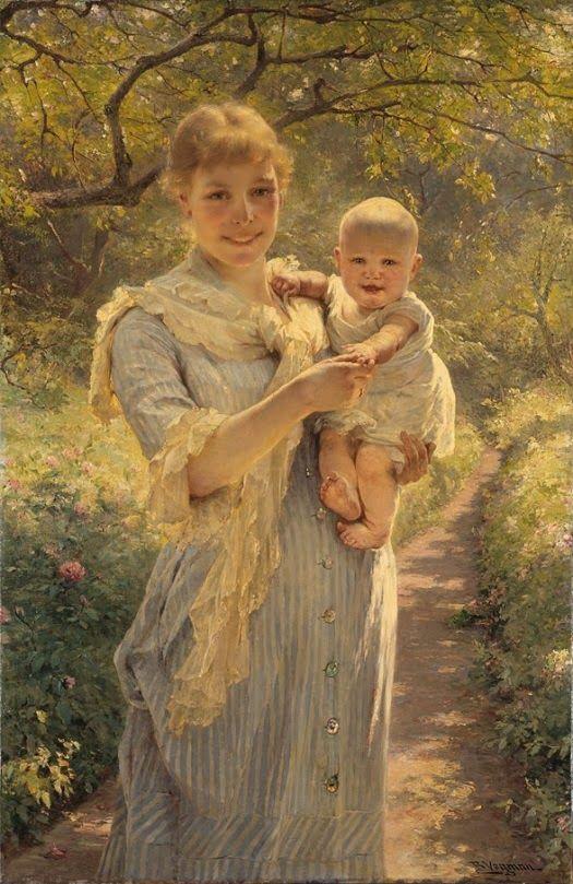 Petit Galerie d'Art: Bertha Wegmann. Young mother