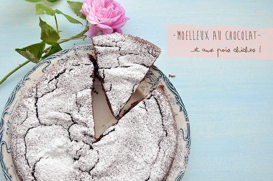Gâteau au chocolat (et aux pois chiches)... sans gluten et sans sucre ! A tester pour voir...