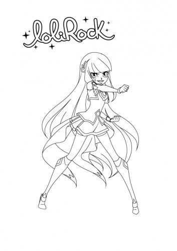 Coloriage Lolirock Talia In 2020 Easy Drawings Children Sketch Coloring Pages