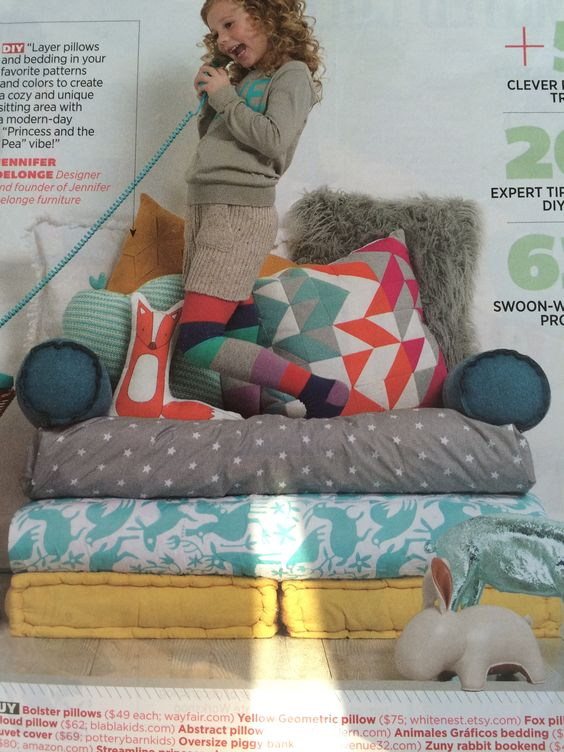 Stackable cushions for chair or extra sleeping space