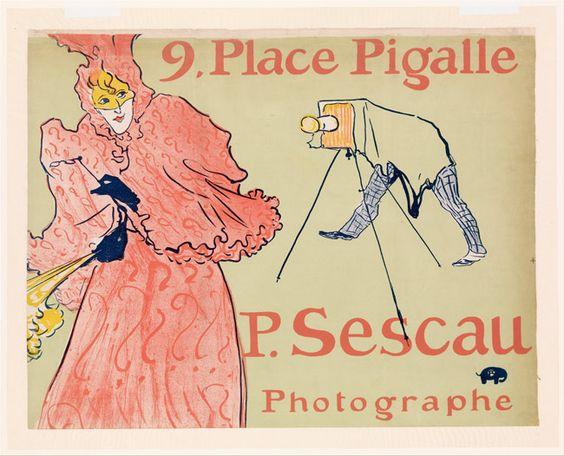 The Photographer Sescau (Le Photographe Sescau) by Henri de Toulouse-Lautre, 1894, Lithograph printed in four colors; machine wove paper (Credit: Harris Brisbane Dick Fund, 1932/Metropolitan Museum of Art):
