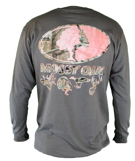 Mossy Oak Exclusive Field Staff Ladies Tee in Charcoal