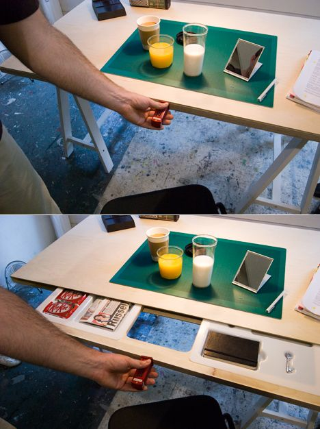YiTing Cheng's Secret Stash: Hide passwords in mirrors and your keys in orange juice - Core77