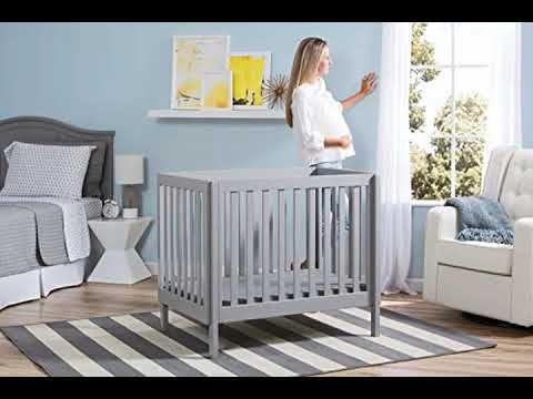 Buy Delta Children Bennington Elite Mini Crib With Mattress Light Grey Https Youtu Be 8a3lsywrqba Delta Child Cribs Childrens Room Furniture Small Baby Cribs