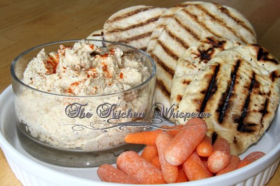 LF - roasted cauliflower hummus - infuse the oil, then omit the garlic. This looks yummy!