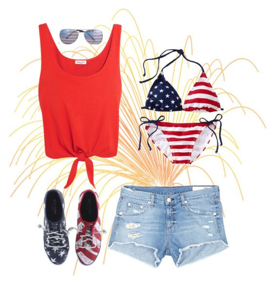"""""""Fourth of July!"""" by aegreen23 ❤ liked on Polyvore featuring Sperry, rag & bone/JEAN, Splendid and Old Navy"""