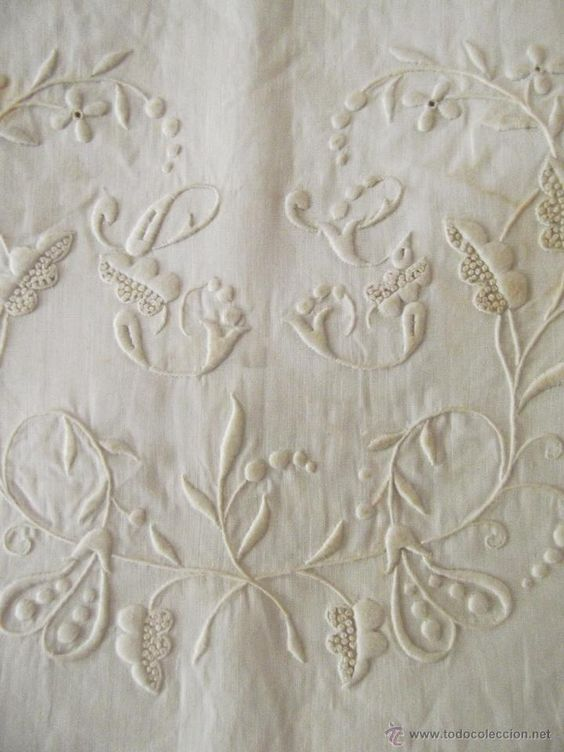 Antigua funda de almohada de hilo fino, precioso bordado. Cama de 90. Sin uso. Almohadon de lino - Foto 2