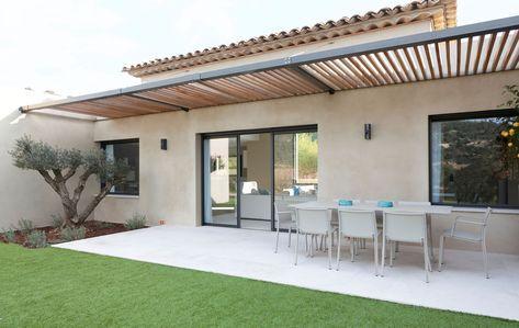 Brise Soleil Bois Alu Maison Contemporaine Terrasse Maison Couleur Facade Maison