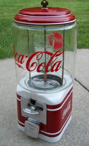 coca cola gumball machine