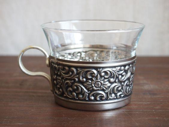 北欧アンティーク食器銀の持ち手