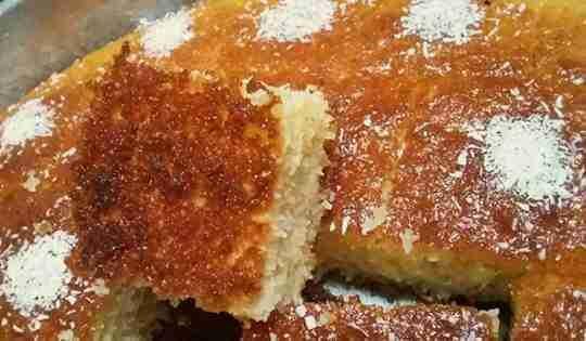 بسبوسة جوز الهند الملكية ملكة الحلويات الشرقية زاكي Dessert Recipes Arabic Food Food