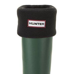 Hunter Unisex Tall Fleece Welly Socks - Black
