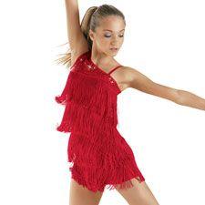 Sequin-One Shoulder Fringe Dance Costume   Balera™ 10am $29.99-$34.99
