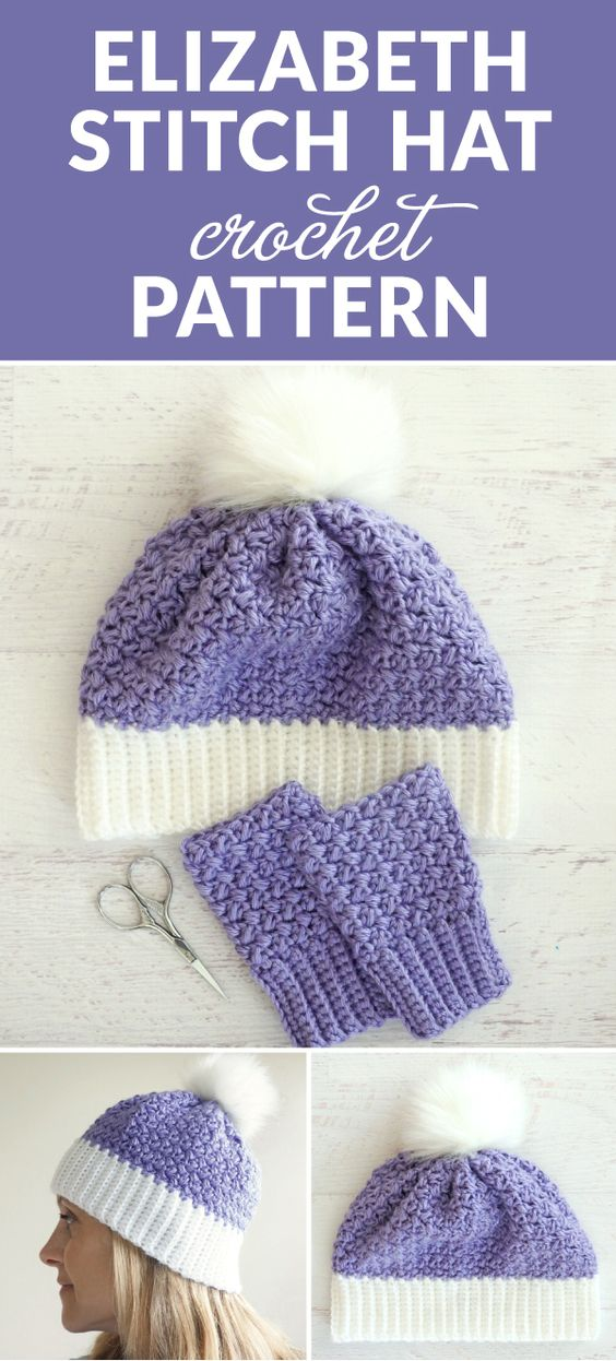 The Elizabeth Stitch Crochet Hat Pattern - this free crochet pattern is perfect for kids and adults alike and makes a perfect birthday or Christmas gift. #ilovecrochet #crochethat #crocheteveryday #crochetpattern #crocheting #crochetlove #crochetlife #crochetaddict #crocheter #crocheted #crochetgifts #crochet365 #freecrochetpattern