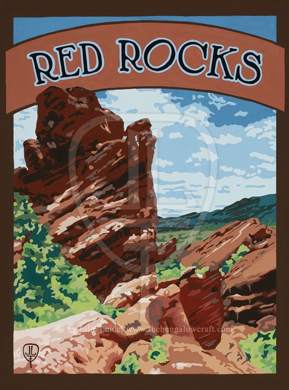 Red Rocks: Art Canvas - The Bungalow Craft By Julie Leidel