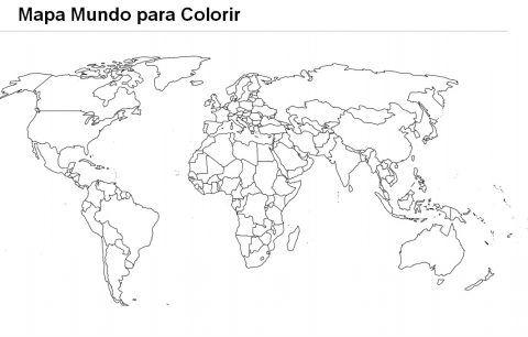 Imagens Do Mapa Mundo Para Imprimir E Colorir Mapa Mundi Para