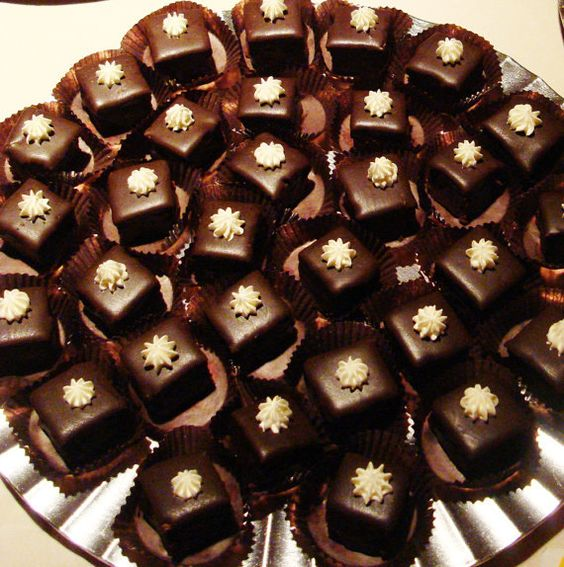 Gluten Free Petit Fours chocolate ganache by angelcakesbakery