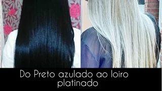 como descolori cabelo preto - YouTube
