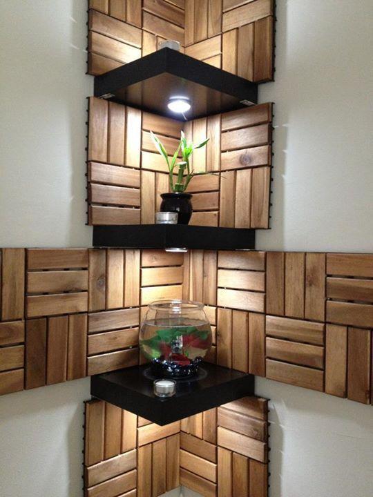 Functional Corner Wall Art Shelves Corner Wall Decor Corner Shelf Design Wall Shelves Design