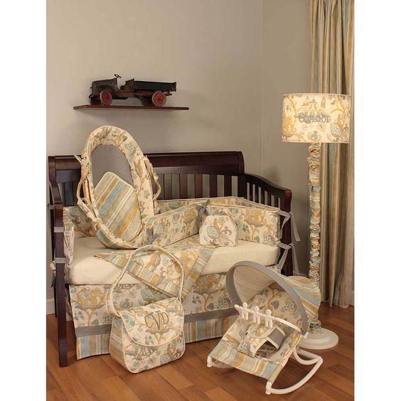 Hoohobbers Cirque Blue Crib Bedding #baby #nursery #ideas #shopping