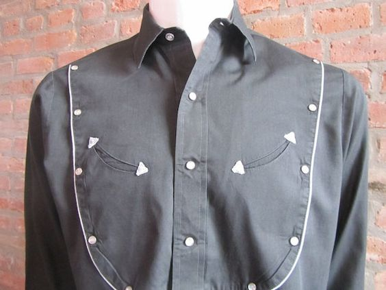 Mens MEDIUM bib front cowboy shirt Stage West by by Vintrowear, $25.00