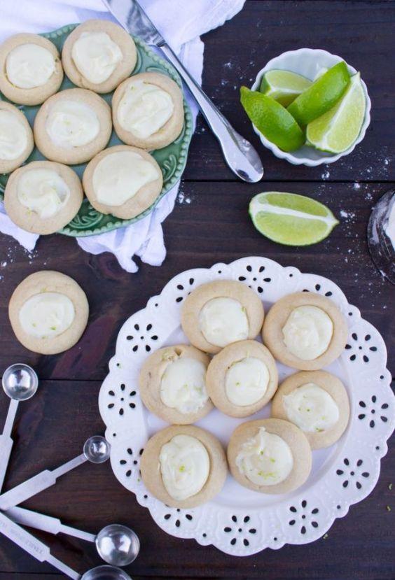 Key Lime Thumbprint Cookies   - CountryLiving.com