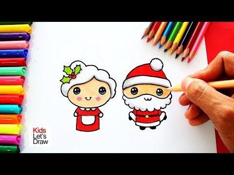 Cómo Dibujar A Mamá Noela Y Papá Noel De Navidad Juntos Y De Forma Fácil Youtube Papa Noel Dibujo Papa Noel Para Dibujar Papa Dibujo