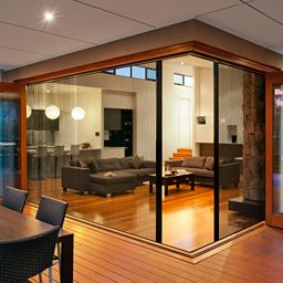 Insects screens and aluminium doors on pinterest for Retractable screens for bifold doors