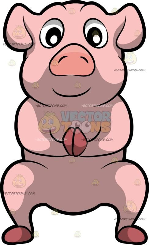 A Pig Doing A Garland Yoga Pose A Pig With Pink Skin Droopy Ears Dark Pink Hooves Snout Squats As Its Front Feet Are Placed T Poses Yoga Poses Yoga Postures