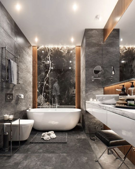 Why Introduce Gray To Your Home Interior Design And Events Design Events Gray Modern Bathroom Design Master Bathroom Design Bathroom Interior Design
