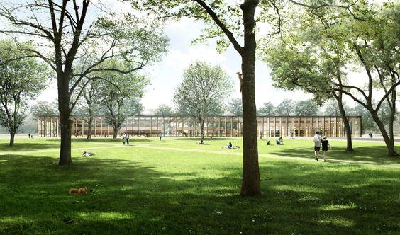 1. Rang 2. Preis: Blick vom Park, © Gerber Architekten