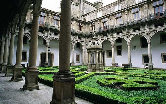 The Hostal Dos Reis Catolicos, Santiago de Compostela, a Parador hotel in Spain.