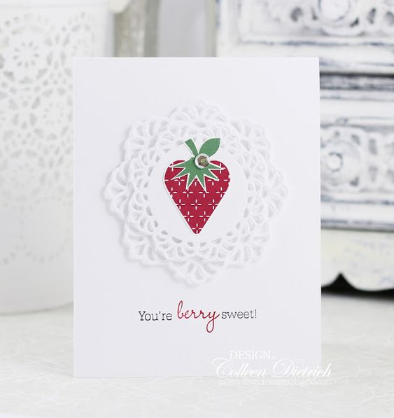 Berry sweet | Colleen Dietrich Designs - clean and simple handmade greeting card…