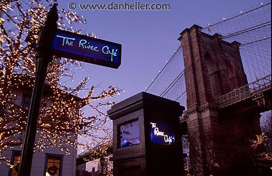 river-cafe.jpg america, brooklyn bridge, cafes, horizontal, images, new york, new york city, north america, rivers, united states