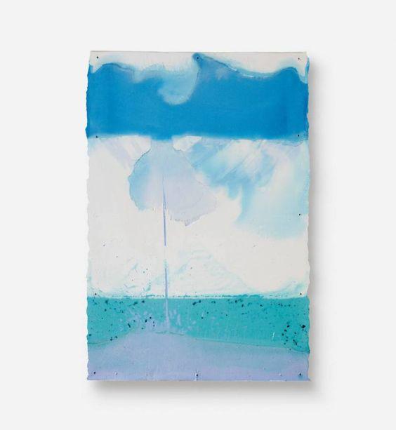 "Stijn Ank, ""44.2016"", 2016, Pigmentierter Gips, Leinwand/pigmented plaster, canvas, 60 x 40 cm"