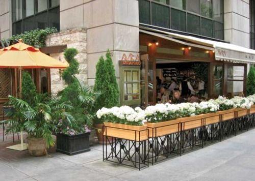 Restaurant patio barriers  Outside Barrier Planter Idea   THIRD SPACE   Pinterest   Planters ...
