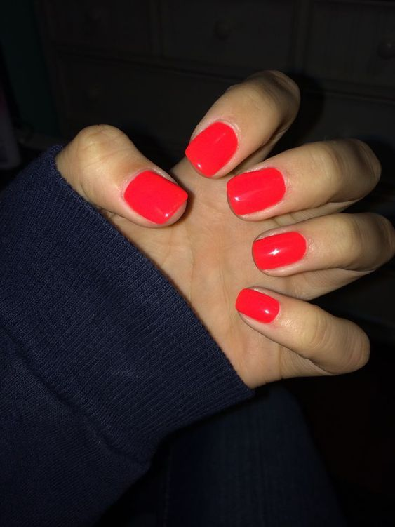 78 Beautiful Summer Nails Color Ideas You Must Try Red Nails Nails Gel Nails